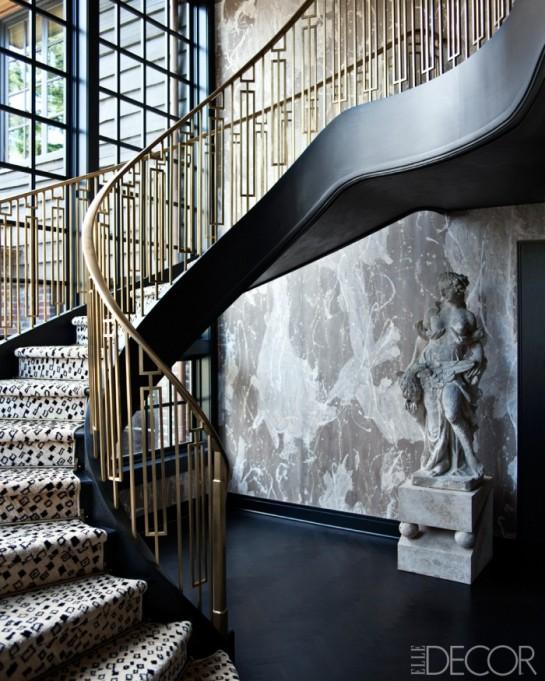 Elle Decor, Kelly Wearstler, Mercer Island, Washington, Stairs 700p